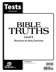 Bible Truths Level E Grade 11 Test Pack 3rd Edition