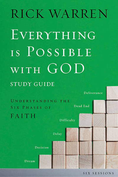 Everything Is Possible with God Study Guide with DVD