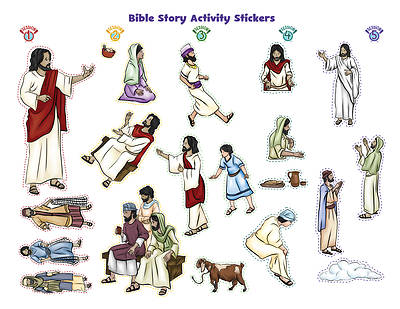 Vacation Bible School (VBS) 2018 Rolling River Rampage Bible Story Activity Stickers (Pkg of 6)