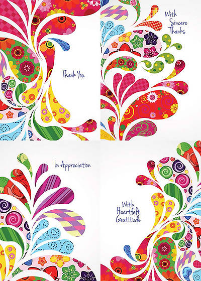 Bursting with Thanks - Thank You Boxed Cards - Box of 12