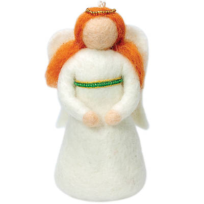 Picture of Peace Angel Ornament, Green