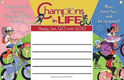 Picture of Vacation Bible School (VBS) 2020 Champions in Life Outdoor Banner