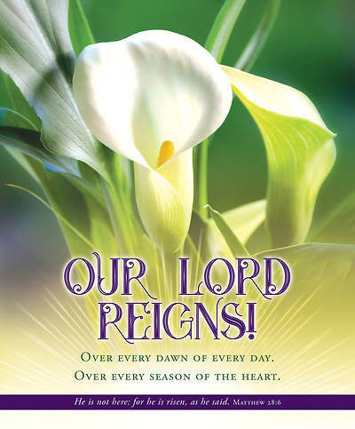 Our Lord Reigns Easter Regular Size Bulletin