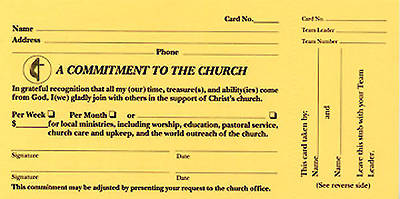 A Commitment To The Church Pledge Card (Pkg of 100)