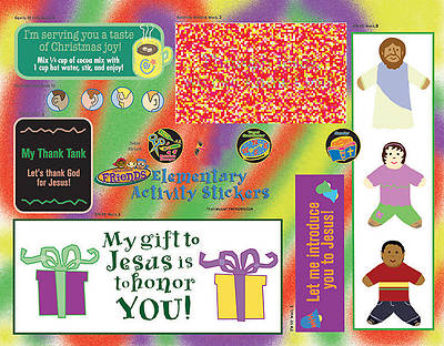 Groups Faithweaver Friends Elementary Activity Stickers Fall 2012 (pkg5)