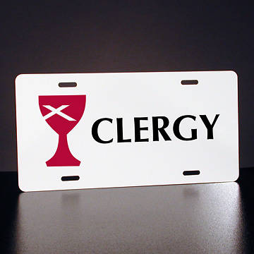 Full-Color Disciples of Christ Clergy License Plate