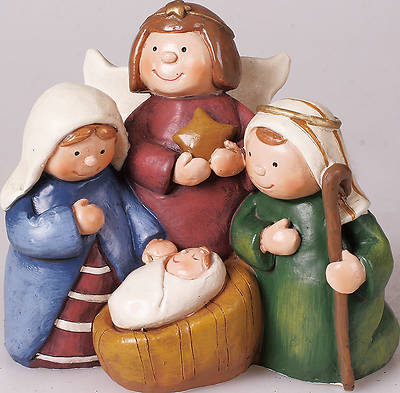 One Piece Holy Family Nativity - 4""