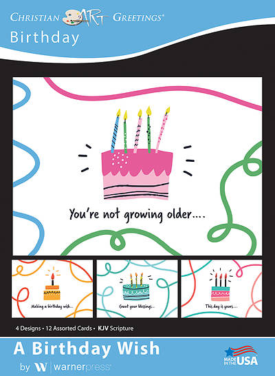 Picture of A Birthday Wish Birthday Boxed Cards (Box of 12)