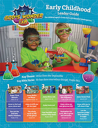 Picture of Vacation Bible School VBS 2021 God's Wonder Lab Early Childhood Leader Guide