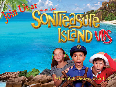 Gospel Light VBS 2014 SonTreasure Island Outdoor Banner 48x36