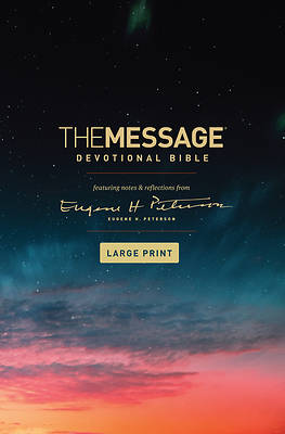 Picture of The Message Devotional Bible, Large Print (Hardcover)
