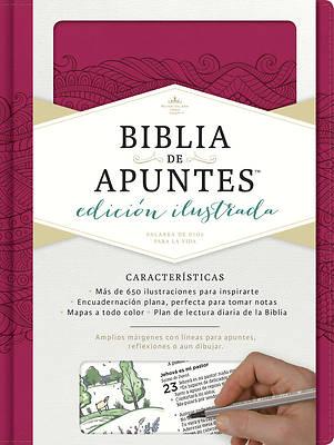 Picture of Rvr 1960 Biblia de Apuntes, Edicion Ilustrada, Simil Piel Rosado