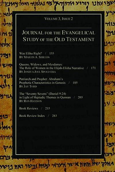 Journal for the Evangelical Study of the Old Testament, 3.2