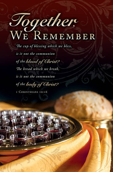Picture of Together We Remember Communion Regular Size Bulletin