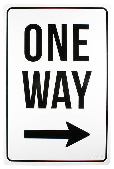 Picture of One Way Right Arrow Street Sign
