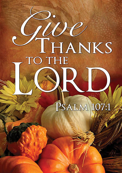 Picture of Fall Thanksgiving Banner Give Thanks 4x6