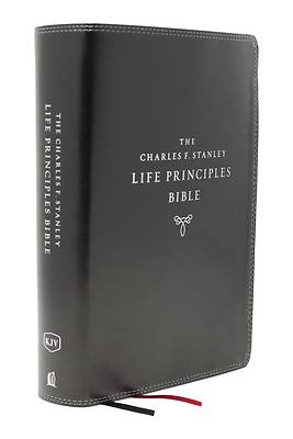 Picture of Kjv, Charles F. Stanley Life Principles Bible, 2nd Edition, Leathersoft, Black, Comfort Print