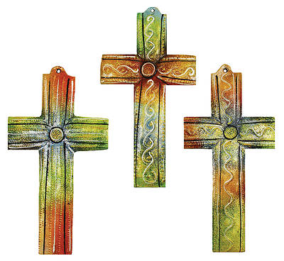 Picture of Colored Metal Wall Art Cross