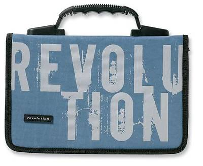 Revolution Nylon Medium Blue Bible Cover