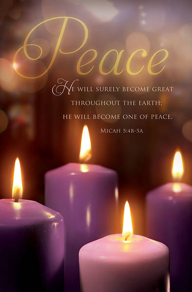 Picture of Advent Peace Week 3 Micah 5:4b-5a Bulletin Regular