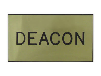 Gold and Black Deacon Magnetic Badge