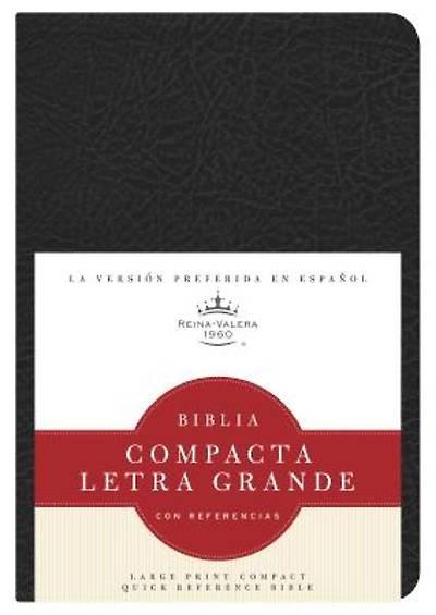 Picture of Rvr 1960 Biblia Compacta Letra Grande Con Referencias, Negro Imitacion Piel