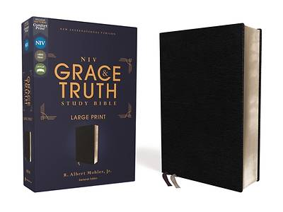 Picture of Niv, the Grace and Truth Study Bible, Large Print, European Bonded Leather, Black, Red Letter, Comfort Print
