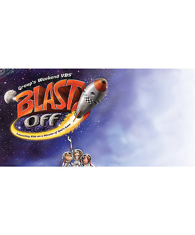 Group VBS 2014 Weekend Blast Off Giant Outdoor Banner