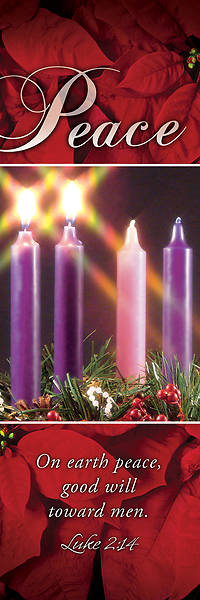 Picture of Peace Advent Wreath 2' X 6' Fabric Banner