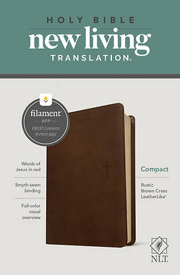 Picture of NLT Compact Bible, Filament Enabled Edition (Red Letter, Leatherlike, Rustic Brown)