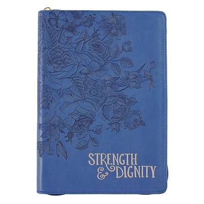 Journal Classic Zippered Luxleather Strength & Dignity