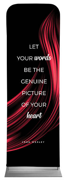 Picture of Let Your Words Color Swirl Words of Wesley Sleeve Banner