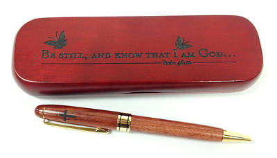 Boxed Wooden Pen - Be Still And Know That I Am God