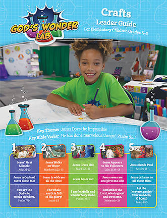 Picture of Vacation Bible School VBS 2021 God's Wonder Lab Craft Leader Guide