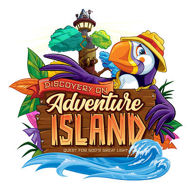 Picture of Vacation Bible School (VBS) 2021 Discovery on Adventure Island Downloadable High Resolution Logo