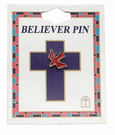 Picture of Believer Pin - Blue Cross with Red Dove