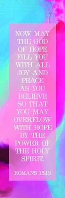 Picture of Overflow With Hope Bookmark (Package of 25) Inspirational