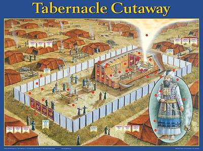 Picture of Wall Chart Tabernacle Cutaway