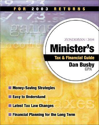 Zondervan 2004 Ministers Tax and Financial Guide