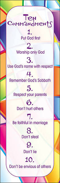 Kids Ten Commandments Bookmark - Pack of 25