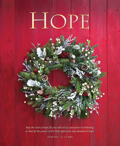 Hope Christmas Wreath Legal Size Bulletin