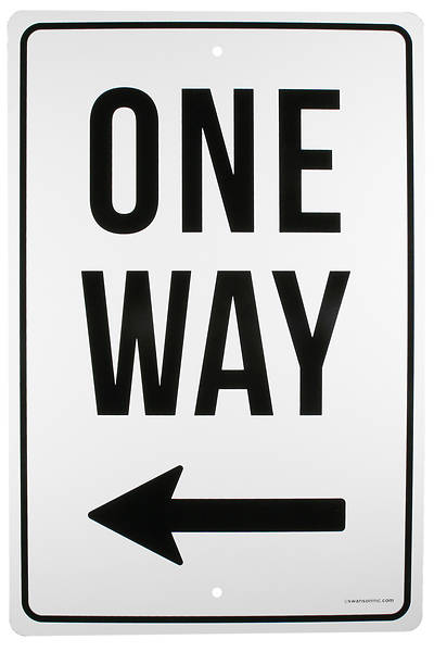 Picture of One Way Left Arrow Street Sign