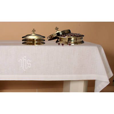 Pure Linen IHS Communion Table Cover - 50