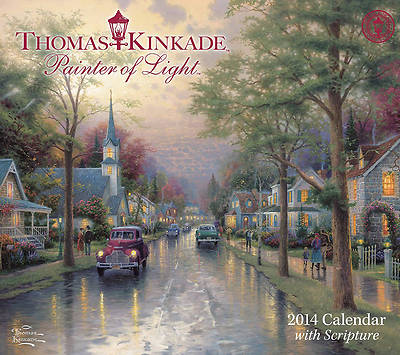 Thomas Kinkade Painter of Light with Scripture Deluxe Wall Calendar 2014