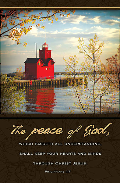 Funeral Bulletin - The Peace of God - Philippians 4:7 - Regular Package of 100