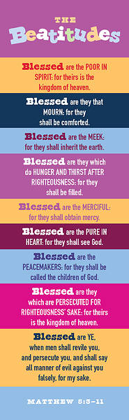 The Beatitudes Bookmark Pkg of 25