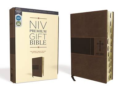 NIV, Premium Gift Bible, Leathersoft, Brown, Red Letter Edition, Indexed, Comfort Print