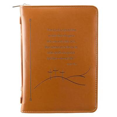 Bible Cover John 3:16 Luxleather Large