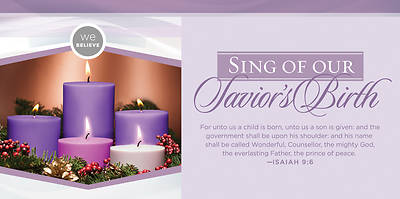 We Believe: Sing of our Saviors Birth Advent Offering Envelope - Pack of 100