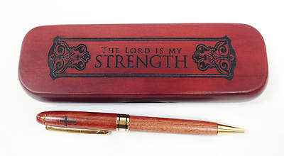 Boxed Wooden Pen - The Lord is my strength